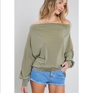 Tops - NEW! Olive Long Sleeve Top!